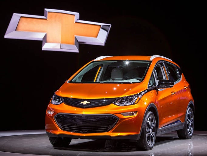 The 2017 Chevrolet Bolt EV is introduced at the 2016
