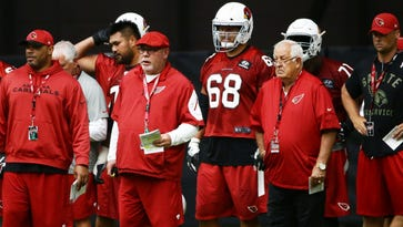 Arizona Cardinals' Bruce Arians and Tom Moore could talk football forever