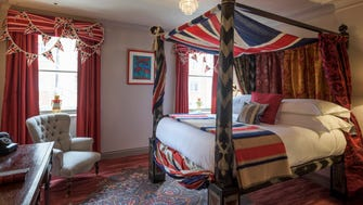 "Zetter Townhouse, Marylebone, London: A delightfully dotty hotel designed for an imaginary ""wicked Uncle Seymour"" occupies a Georgian townhouse north of teeming Oxford Street."