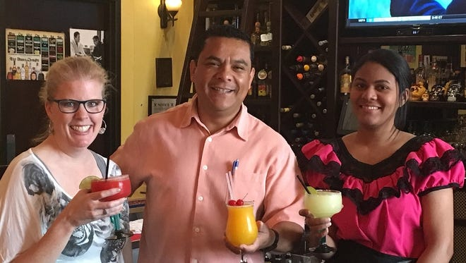 Pictured, from left, are Big Brothers Big Sisters Executive Director Tammy Young, Edgar Ramirez, owner/operator of Casa del Tequila and Everyn Sanchez, a server at Casa del Tequila.