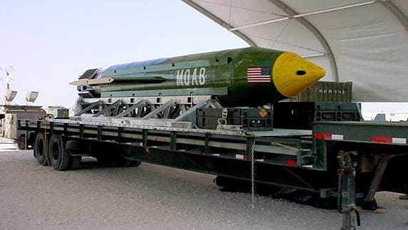 "The Air Force calls this the Massive Ordnance Air Blast bomb, or the ""Mother Of All Bombs."""
