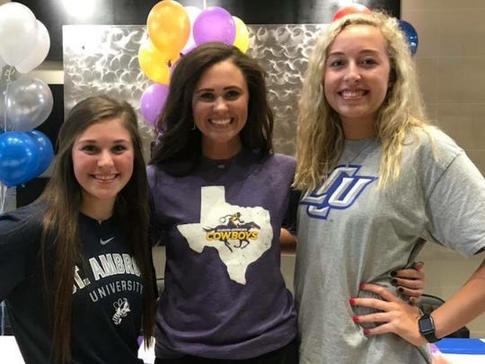 Three Archer City High School volleyball athletes signed