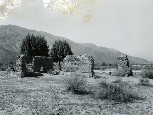 Adobe ruins at Smoke Tree Ranch c. 1888.