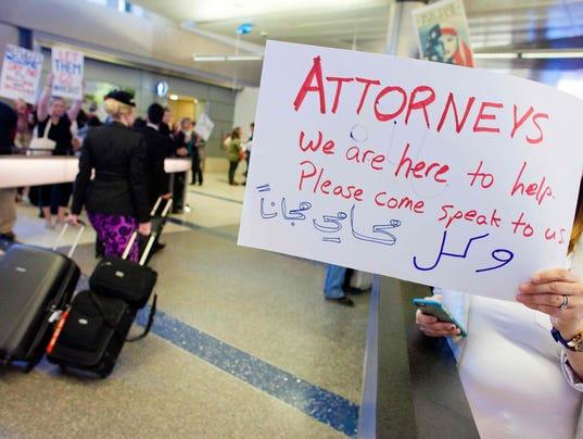 Immigration ban U.S. airports
