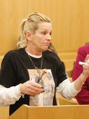 Donna Nolan, Mike Nolan's mother, speaks in Westchester