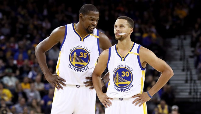 Kevin Durant and Stephen Curry