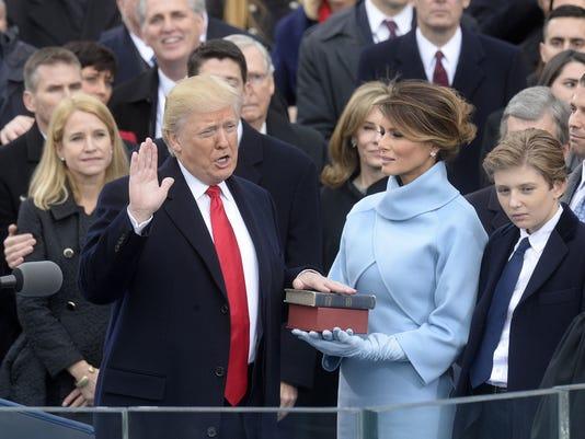 Donald Trump Sworn In As U.S. President  - DC