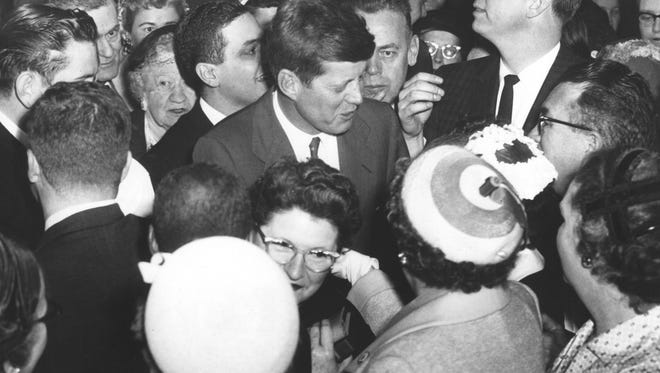 Sen. John F. Kennedy flew to Indianapolis on March 21 1960 to officially file his entry in the May 3 Indiana presidential preference primary.