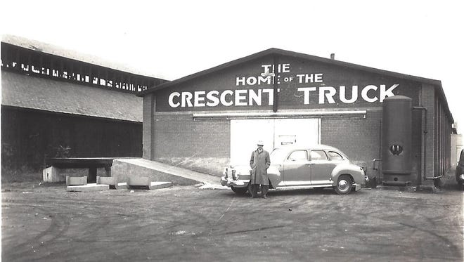 The Lebanon County Historical Society received the following information about this photo of the Crescent Truck Co. published Nov. 24. The Crescent Truck Co. came to Lebanon in 1921 and was located at 11th and  Willow streets. The man standing at the car is the company's general manager. The company manufactured small storage battery trucks that were used at big railway stations for handling baggage and express matter, and at industrial plants and wharfs to move merchandise from one place to another. During World War II, the company focused on making things like forklifts to support the war effort. In May 1941, the Navy announcedthe  award of a $5,244 contract to the Crescent Truck Co. for electric platform trucks. The property was eventually purchased by Roy H. Risser, original owner of Lebanon Building Supply.
