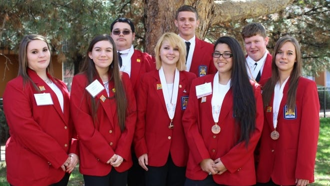 The Loving SkillsUSA team competed at the state level in April in Albuquerque.