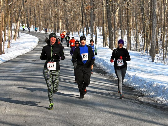 Runners take part in the Mid-Hudson Road Runners Club's Pete Sanfilippo Winter Run on Sunday at James Baird State Park. The Knights of Columbus Holiday Run in Wappingers Falls is set for Dec. 7.