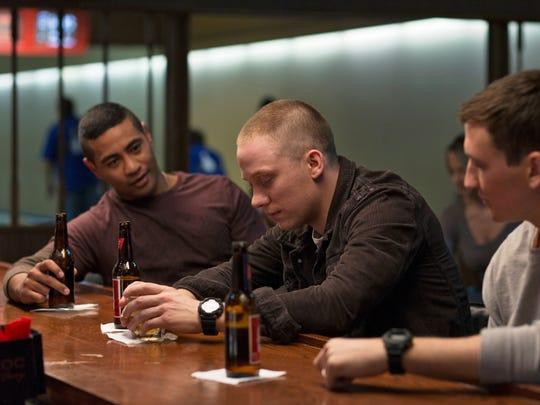 Friends Solo (Beulah Koale, from left), Will (Joe Cole)