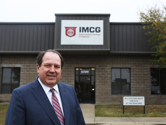 Joel Tracy, the chief information officer for IMC, poses for a portrait at the Memphis logistics firm on Nov. 8, 2017. The company is a founding member of Blockchain in Trucking Alliance, or BiTA.