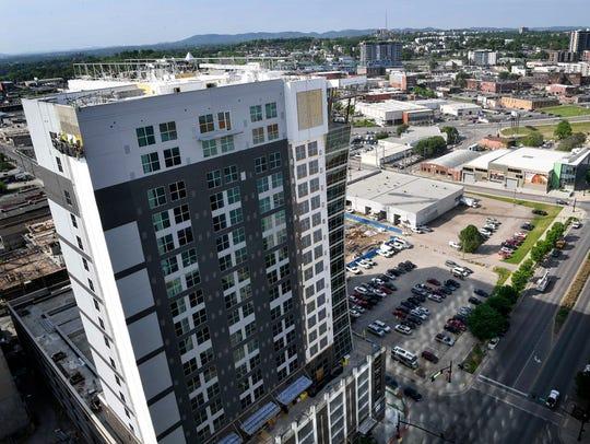 Hotels being built along Demonbreum Street in downtown