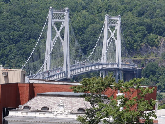 The Mid-Hudson Bridge in the City of Poughkeepsie on