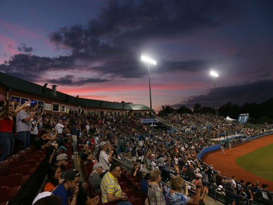 A beautiful sunset at Dutchess Stadium in Fishkill