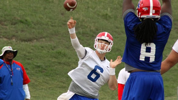 Louisiana Tech transfer quarterback Jeff Driskel will