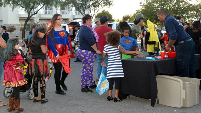 Kids of all ages gathered for the inaugural HalloweenFest and Family Wellness Fair on Monday, Oct. 31, 2016, at the Doña Ana County Government Center parking lot.