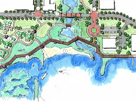 A rendering of recommended development for Bruce Beach