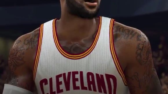 LeBron's video-game appearance went through a striking transformation over the years