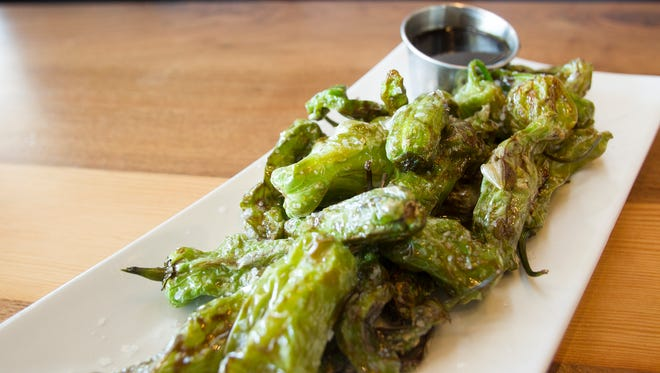 30hop's lucky peppers appetizer is seen on Monday, April 27, 2015.