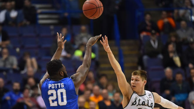 MTSU's Giddy Potts led the nation in 3-point field-goal percentage last season and played a major role in the NCAA Tournament upset over No.2-seeded Michigan State.