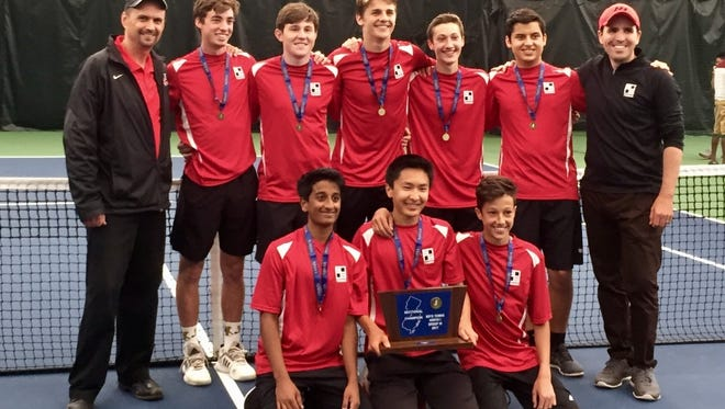 Northern Highlands poses as a team after winning North 1, Group 3 on Tuesday.