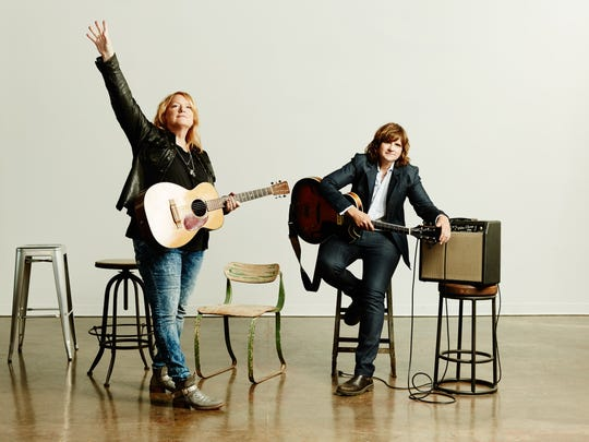 The Indigo Girls, Emily Saliers, left, and Amy Ray.