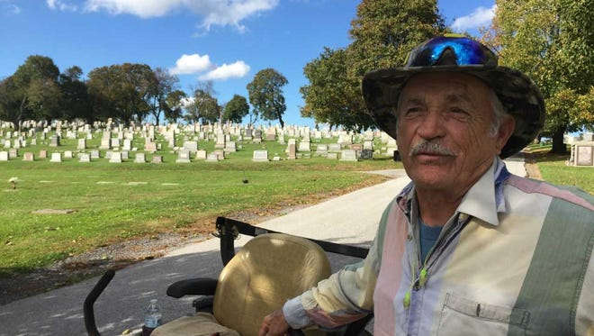 Ron King went to work at Greenmount Cemetery when he was 17. At 76, he's still there.