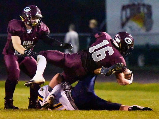 Genoa's Noah Edwards has rushed for at least 200 yards and five touchdowns in three separate games this season.