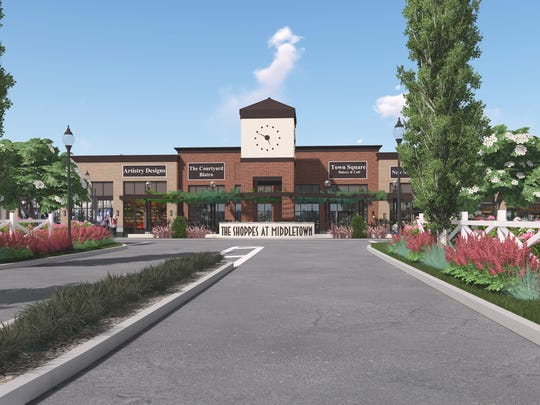 A rendering of the proposed Shoppes at Middletown.