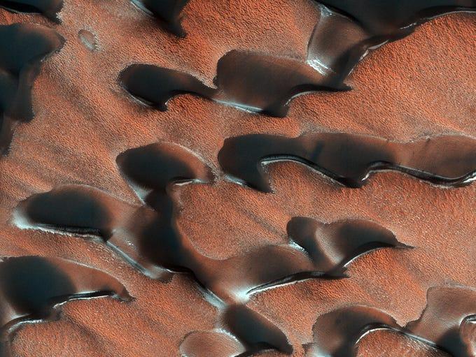 NASA's Mars Reconnaissance Orbiter (MRO) observed sand