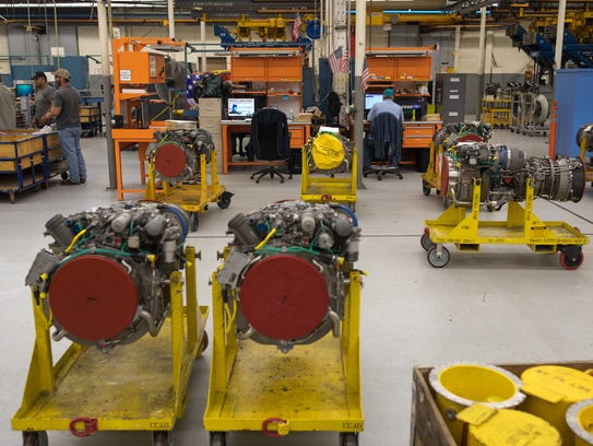 Employees refurbished engines at Corpus Christi Army