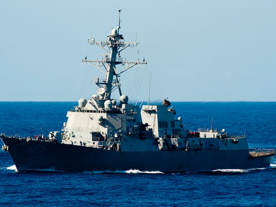 An Arleigh Burke-class guided-missile destroyer similar to this one will be named after retired U.S. Sen. Carl Levin of Michigan. Pictured is the USS Dewey