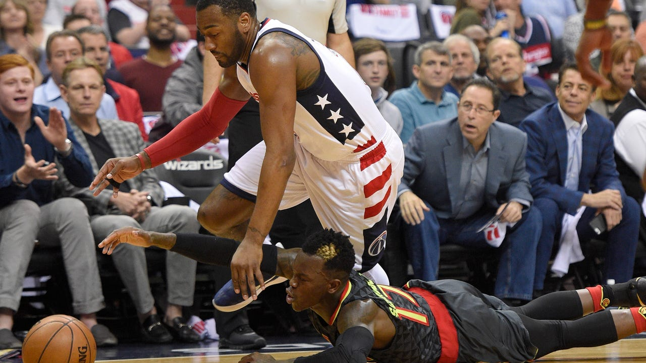 John Wall led the Wizards to a 2-0 lead over the Hawks on Wednesday night.