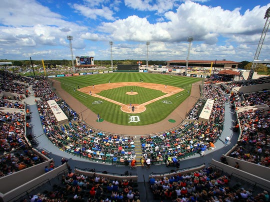 Publix Field at Joker Marchant Stadium, home to Detroit Tigers spring training.