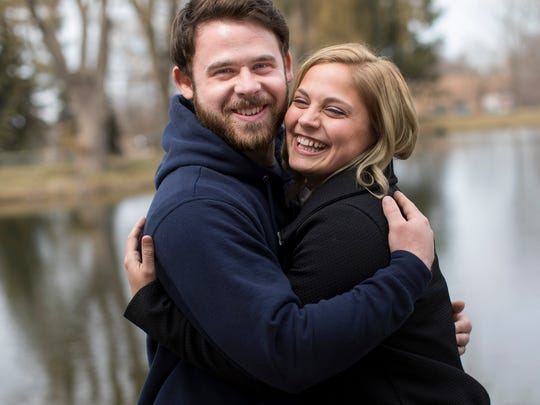 Tom and Courtney Eggleston met on Plenty of Fish while Tom was overseas.