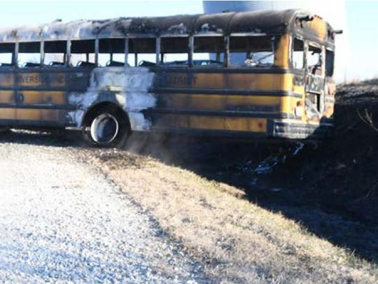 A bus fire killed a 16-year-old student and 74-year-old