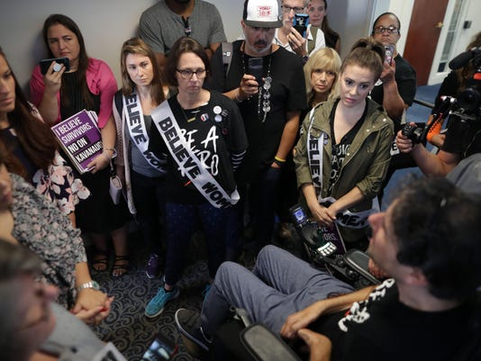 Politicians And Protestors React To New Kavanaugh Accusations On Capitol Hill