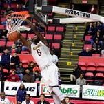 Roman Catholic's D'Andre Vilmar dunks the ball during the Mirabito STOP-DWI Holiday Classic National Title game on Dec. 30. It was announced Thursday that the tournament will no longer be having a National Division moving forward.