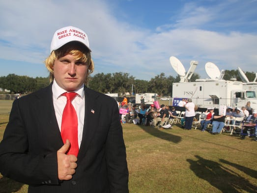 Faces from the Donald Trump Rally in Tallahassee.