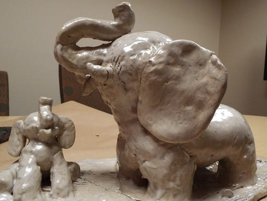 One of Lavon Smith's favorite subjects is sculpting