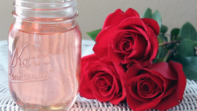 Homemade rose syrup is simple to make and adds a fresh touch to familiar cocktails.