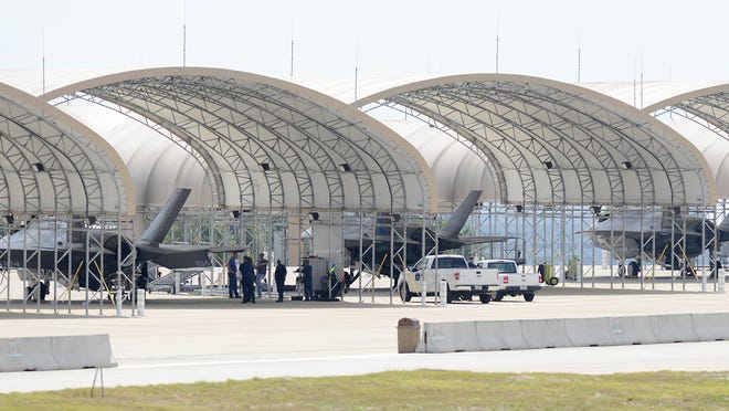 FILE: Fighter jets at Eglin Air Force Base in Florida.