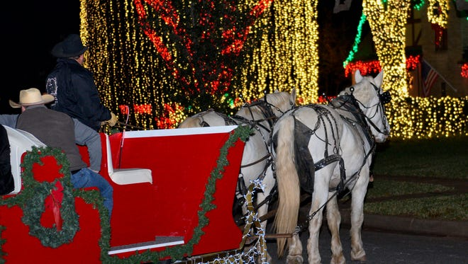 PTL Carriages runs through Christmas Eve and features four carriages: a two- to four-person carriage, a 6-person carriage, a 9 person red sleigh and a 20-person big wagon, with a bench on each side