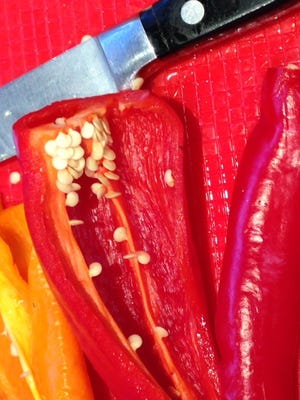 Seeds can be saved from peppers that have ripened, meaning no longer green.