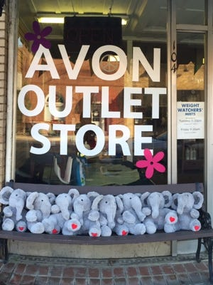Toy elephants that were sold at the Avon Outlet Store in Fountain Inn were donated to the Simpsonville Police Department to be given to children during a traumatic event.