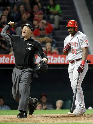 Kerwin Danley (left) was appointed as Major League Baseball's first African-American umpiring crew chief Thursday, as a number of retirements and promotions were announced in anticipation of the upcoming season.
