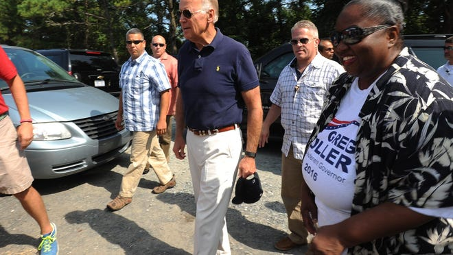 Vice President Joe Biden at The Sussex County Democratic Party's annual Jamboree at Cape Henlopen State Park.