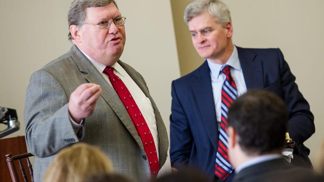 Acadiana Business leaders gathered at The Picard Center for an event hosted by One Acadiana. Speakers included Senator Bill Cassidy, Mayor-President Joel Robideaux, LEDA CEO Gregg Gothreaux, and One Acadiana CEO Jason El Koubi.